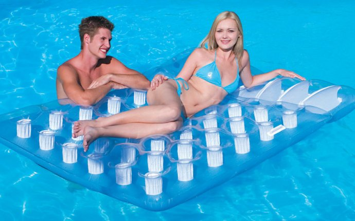 Double Inflatable Pool Lounger - Bestway Swimming Paddling 2 Seat