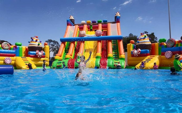 Inflatable water slides for pools – Gallery of Home Equipment Images
