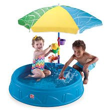 Another safer kiddie pool option, constructed from a plastic.