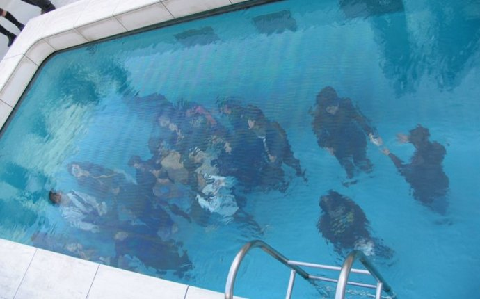 Swimming pool in a swimming pool