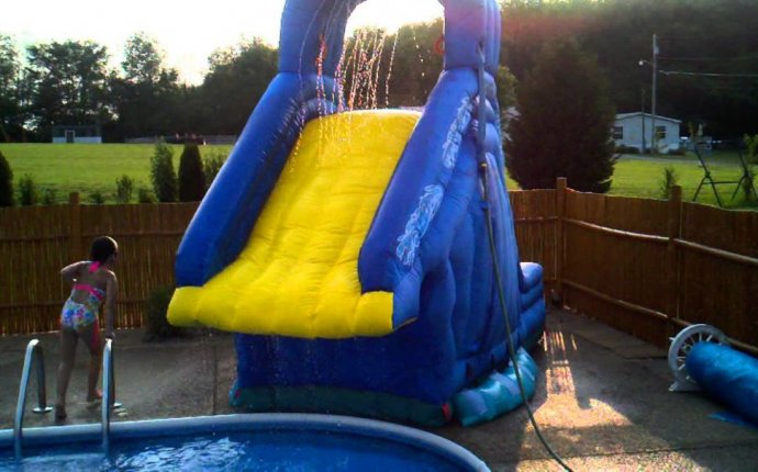 Water slides for above ground swimming pools